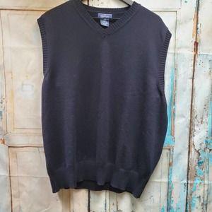 Faconnable Men's Navy Blue Sweater Vest